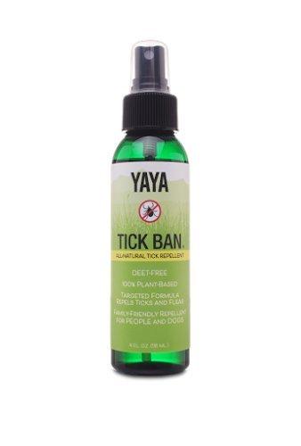 TICK BAN Yaya Organics All Natural Extra Strength Tick Repellent DEET Free