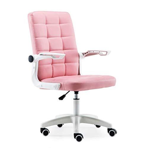 N/Z Équipement Quotidien Chaise d'ordinateur Chaise de Bureau à Domicile Chaise Étudiant Dortoir Siège de Loisirs Personnel Chaise pivotante Chaise Confortable Rose 56cm * 56cm * 102