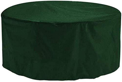 UYZ Patio Furniture Cover Round 158x70cm, Garden Furniture Covers, Patio Table Covers Garden Furniture Covers Outdoor Fire Pit Circular Tables and Chairs Winter Covers,Green