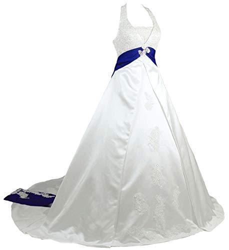 Vestido De Novia Con Cinta Azul