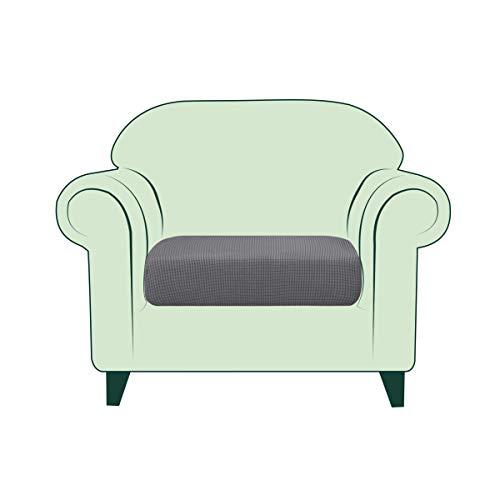 CHUN YI Copricuscino Divano Elasticizzato Copriseduta Protezione Cuscino del Divano per 1 Posto Sedia, Tessuto Jacquard Spandex Fodera per Cuscino (Sedia, Grigio Chiaro)