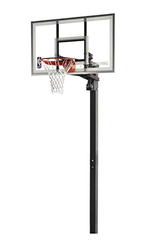 Spalding 60 Inch NBA Aluminum Trim Glass Backboarrd In-Ground Basketball System