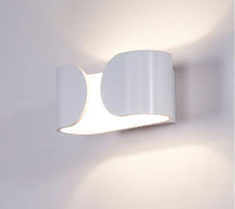 Moderne Aluminiumwandleuchten Wohnzimmer Schlafzimmer Nachtwandleuchten 6W LED Treppenleuchte Einfache Wei Schwarz Wandleuchten, Wei, Warmwei (2700-3500K)