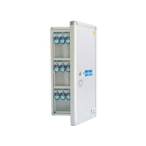 QSJY File Cabinets Sleutelkastje, 36 kaart draagbare wandmontage voor tweeërlei gebruik sleutelbeveiliging locker (aluminiumlegering) 47,5 * 21,9 * 5,6CM