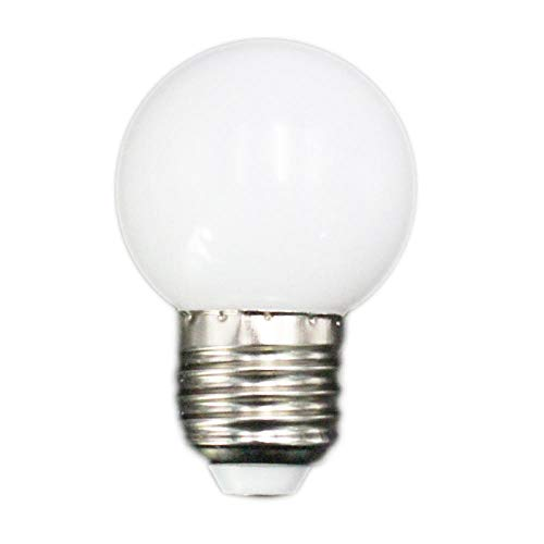 Bombillas LED 1w Pe Frosted Led Colorful White/Red/Green/Blue/Ylellow Lamp 220v-White_E27