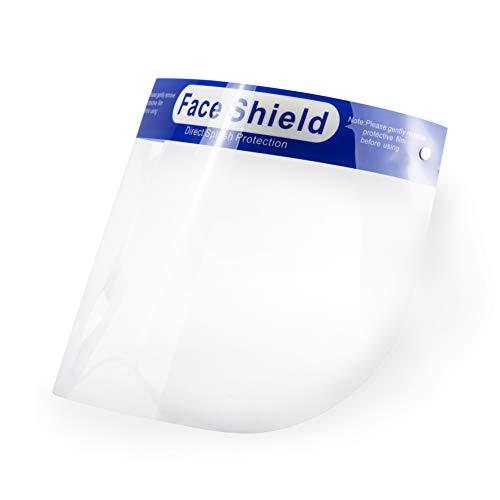 POPP Pantalla doble Protección Facial Transparente antivaho reutilizables, pack 5PCS 10 PCS 20 PCS 30PCS 50PCS 100 PCS ajustable al rostro completo material PE-188um (Pack 10 PCS)