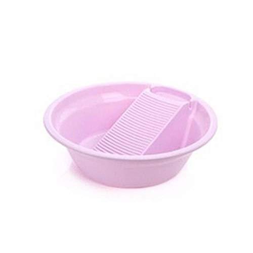 Pila de plástico con lavadero espesado Pila Para lavado de la ropa interior de bebé plástico Lavabo, púrpura