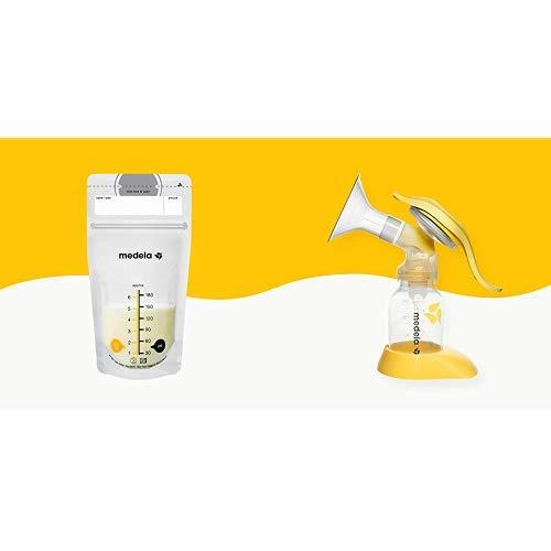MEDELA Sacche Latte, 50 Pezzi + Tiralatte Manuale Singolo Harmony