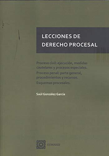 Lecciones de Derecho Procesal: Proceso civil: ejecución, medidas cautelares y procesos especiales. Proceso penal: parte general, procedimientos y recurso. Esquemas procesales