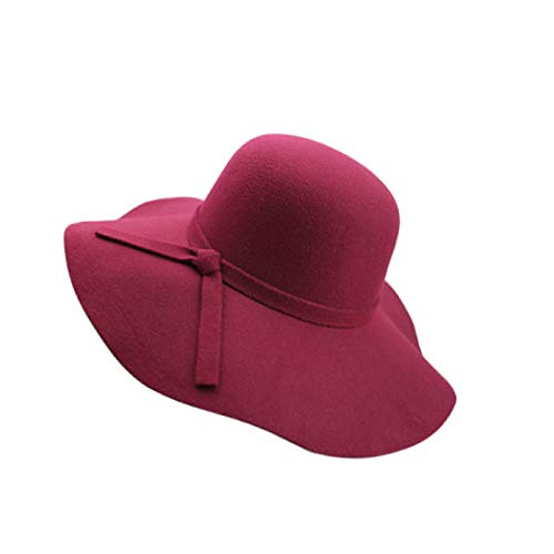 HENGYUSM Sunhat Autumn Winter Summer Women's Beach Sun Hat Female Waves Large Brim Sunbonnet Fedoras Lady Sun Hat