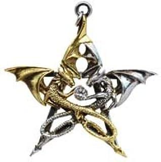 Draca Stella (Dragon Pentagramma) Anne Stokes Carpe Noctum Gotico Ciondolo