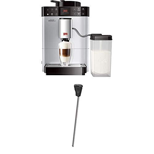 Melitta Caffeo Varianza CSP F570-101, Kaffeevollautomat mit Milchbehälter, One Touch Funktion, Silber + Melitta Milchlanze für Kaffeevollautomaten, Edelstahl, Schwarz