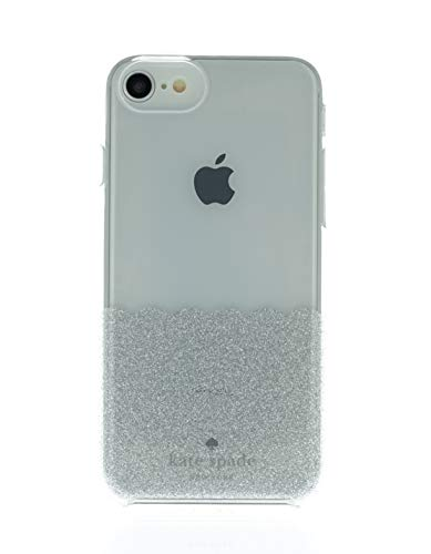 Kate Spade New York Phone Case | Apple iPhone 6-6S - 7-8 | Protective Cover with New Slim Design - Clear with Silver Glitter