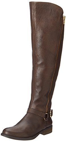 Steve Madden Women's Skippur Motorcycle Boot,Brown,7 M US