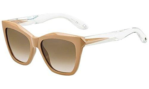 Givenchy Damen GV 7008/S 6Y PU5 53 Sonnenbrille, Beige (Beige Crystal/Brown)