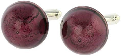GlassOfVenice - Gemelos de cristal de Murano, diseño veneciano, color morado