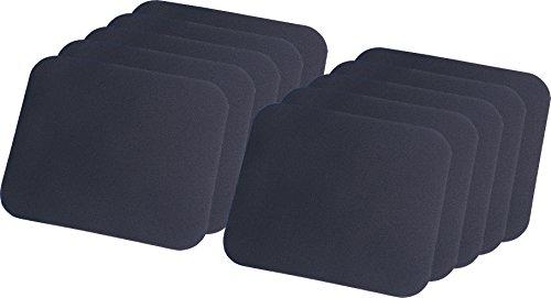 LogiLink ID0096 Mauspad, 220 x 250 x 3 mm, schwarz (10-Pack)