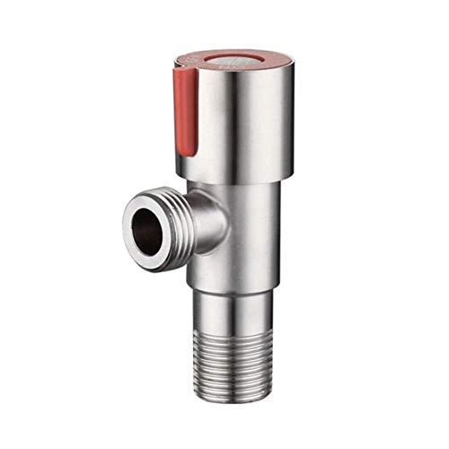 Válvula de ángulo HEHUANG Válvula triangular de agua fría de acero inoxidable Válvula de llenado de rosca G1 / 2 Lavabo de inodoro Calentador de agua Accesorio de baño, Rojo