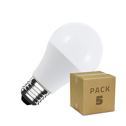 Pack Bombillas LED Casquillo E27 A60 5W (5 unidades) Color Blanco Frío 6000K-6500K