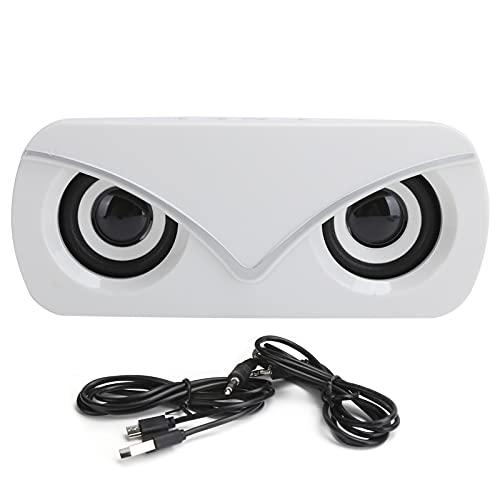 PUSOKEI Altoparlante Bluetooth, Mini Altoparlante Audio Portatile Doppio Altoparlante Bluetooth con Luce LED/Stereo 3D / Doppio Woofer per Casa/Esterno(Bianca)