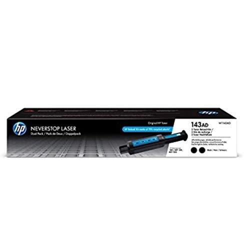 HP 143AD | W1143AD | Toner | Black Reload Kit | 2 Pack