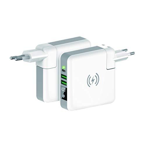 Ksix 1 - BATERIA Externa 6700 MAH 2 USB + USB C + Wireless + CARG. Internacional