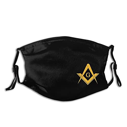 Freemasonry Face Mask, Masonic Mask with 2 Filters, Fashion Gifts Reusable Washable Balaclava for Women and Men