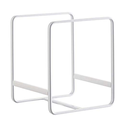 Tisi 2Pack Metal Plate Holders Organizer Rack Stand, Upright Dish Storage Dying Display Rack for Kitchen Cabinet, Counter and Cupboard (White)