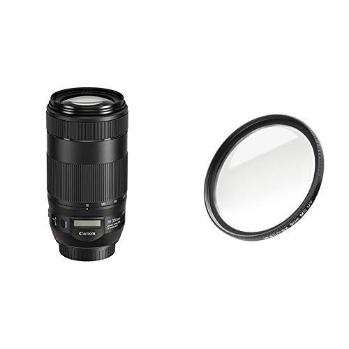 Canon Telezoomobjektiv EF 70-300mm F4-5.6 is II USM für EOS (67mm Filtergewinde, AF-Motor, Nano USM) schwarz & Walimex Pro UV-Filter Slim MC 67 mm (inkl. Schutzhülle)