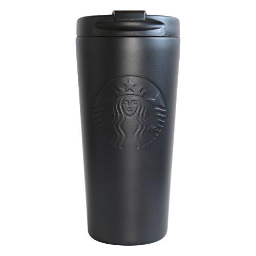 Starbucks - Vaso de acero inoxidable, color negro