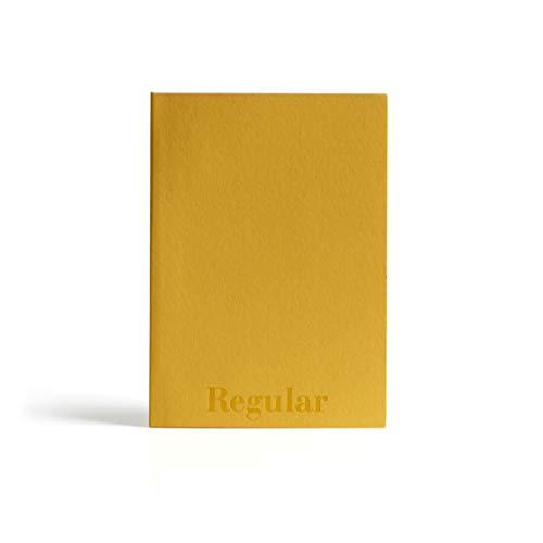 PdiPigna - Taccuino con pagine bianche, Italian types Regular, BI, color Ocra