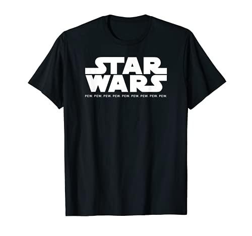 Pew Pew Pew Star Pew Wars Pew Pew Pew Pew Pew Diseñado Camiseta