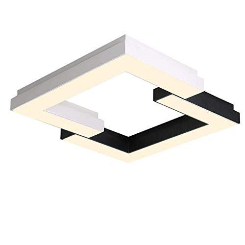 LG Snow Moderno Diseño Cuadrado Blanco Y Negro Luz LED Acrílico Metal Sala De Estar Cocina Estudio Sala Control Remoto Decorativo Stepless Atenuación Luz De Techo