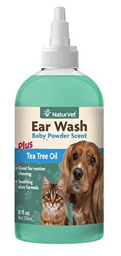 Naturvet Ohr Wasch Teebaumöl Mit Aloe Reinigt Gehörgang Für Hunde Katzen 236 Ml