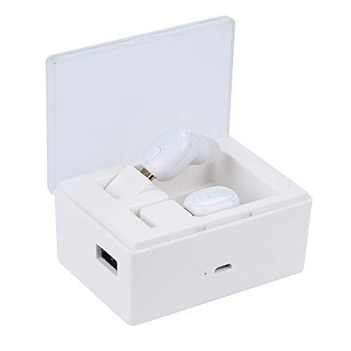 SamMoSon 2019 Auriculares Deportivos Almohadillas Soporte para,Auriculares Estéreo Mini Auriculares Inalámbricos Bluetooth 4.2 con Auriculares Estéreo