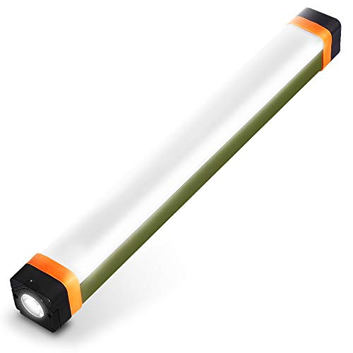 LETOUR Luz LED de acampada, 4 modos 400 lumens recargable por USB, con banco de energía de 1200 mAh, luz de emergencia magnética IP68 resistente al agua, para senderismo, barbacoa al aire libre