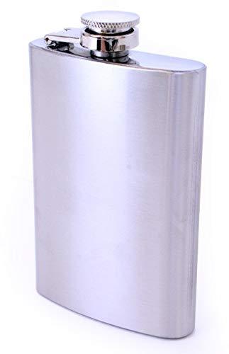 shoperama Bottiglia in acciaio inox da 120 ml, per grappa alcol, anni '20, 30, 40