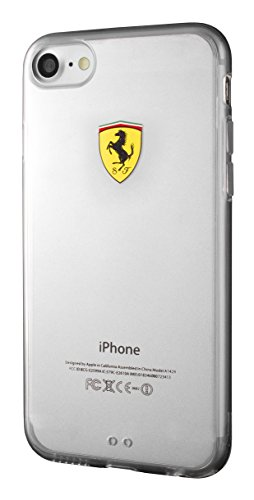 Ferrari FEHCP7TR1 TPU Schutzhülle für Apple iPhone 7, Racing Shield klar