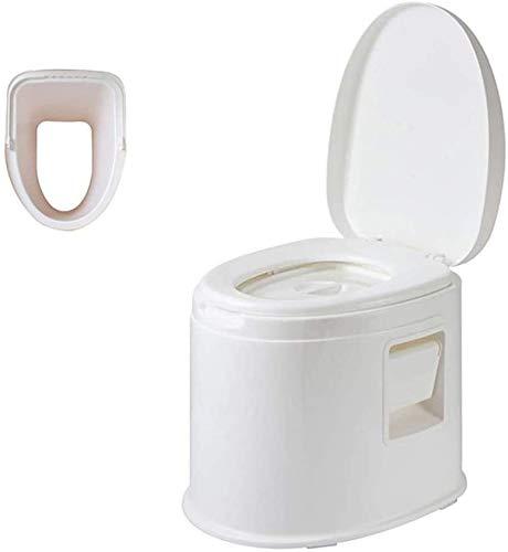 GJNVBDZSF Toilette Mobile in plastica per Adulti Multifunzionale, Toilette con sciacquone Portatile per Auto all'aperto, Adatto per Escursioni in Campeggio