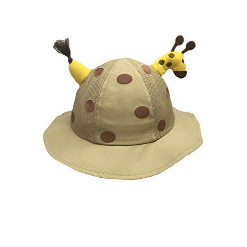 langchao Baby Hut süß super süß Frühling und Sommer Baby Sonnenhut Jungen und Mädchen Sonnenschutzhut 6 Monate-2 Jahre alt Hut Umfang (46-48cm) One Size Khaki Half Net Hut