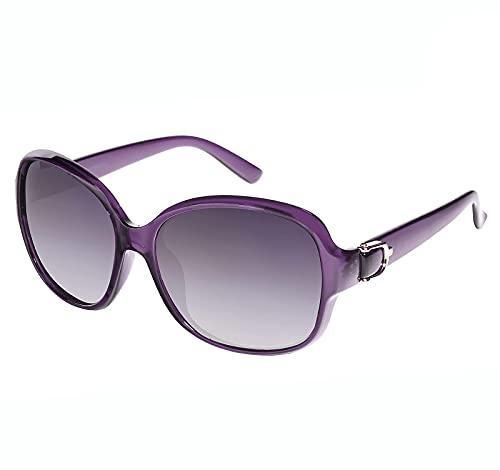 EFE Gafas de Sol Polarizadas para Mujeres Hombres Moda y Elegante Ovaladas de Gran Tamaño Protección UV400 Contra los Rayos Ultravioletas y Luz Brillante para Señoras Violetas Violeta