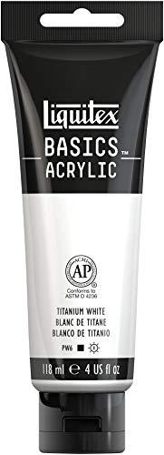 Liquitex Basics - Tubo De Pintura Acrílica , Blanco De Titanio, 118 Ml