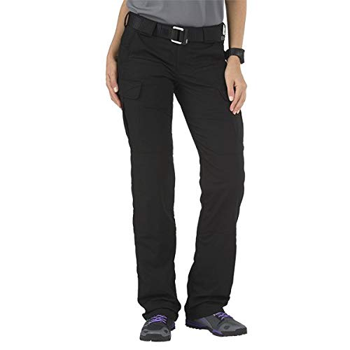 5.11 Tactical Women's Stryke Covert Cargo Pants, Stretchable, Gusseted Construction, Style 64386, Black, 0