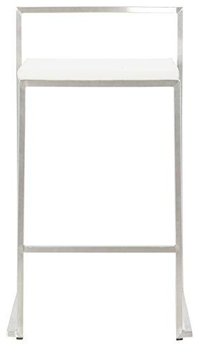 Kokoon Meto barkruk, kunstleer, 41 x 44 x 76,5 cm 48 X 50 Wit.