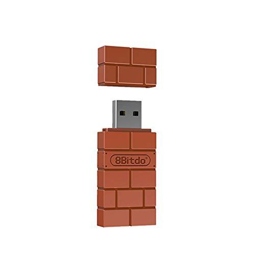 DZSF Adaptador Inalámbrico Bluetooth USB para Windows Mac Frambuesa Pi Nintendo Interruptor Auxiliar del Controlador PS3 Xbox Uno De Conmutador,Naranja