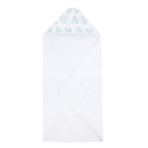 Aden + Anais adisn401gb graphic mickey, disney baby cape de bain à capuche, éponge de coton avec capuche en mousseline, 78cm x 78cm
