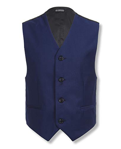 Calvin Klein Boys' Big Formal Suit Vest, Infinite Blue, Large(14/16)