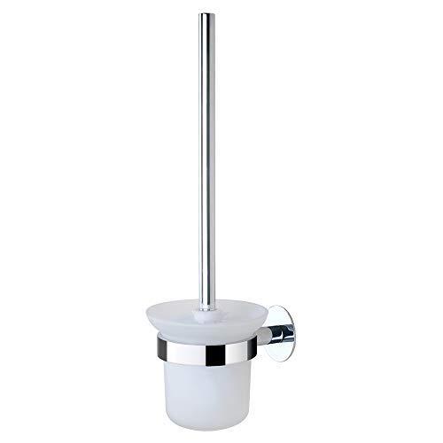 GERUIKE Toilettenbürste Wc Garnitur Badezimmer Klobürstenhalter Ohne Bohren Selbstklebend Halter Edelstahloberfläche Rostfreier Halter Wandmontiert Kein Bohren Silber