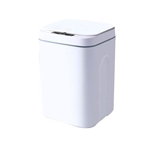 Gcroet Küche Abfalleimer Abfalleimer Smart Sensor Mülleimer Elektrische Touchless Bin Automatische Mute mit Abdeckung für Küche Schlafzimmer Badezimmer 16l (weiß)