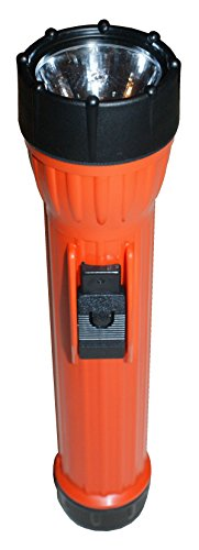 Bright Star 2224 Work SAFE15,000 CP Incandescent Flashlight, UL & CUL Class I, Division I, Waterproof, ASTM & msha approved, Orange